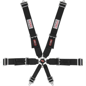 G-FORCE - GFORCE 7001BK Camlock Individual Shoulder Harness 6Point, Pull Down - Harness -G-Force, Helmet - 7001BK - Tatis Motorsports