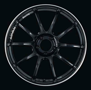 Advan Racing RZII Wheel 18x9.5 5x114.3 +45mm Gloss Black-Wheels-Advan Racing-18x9 5x114.3 45mm, Advan Racing, Honda S2000, RZII, Wheels-Tatis Motorsports