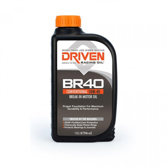 Driven Racing Oil - Joe Gibbs Racing Driven 03706 BR40 Break-In 10W-40 - Case of 12 Quarts - Motor Oil -10W-40, Driven, Motor Oil - 03706 - Tatis Motorsports