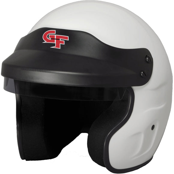G-FORCE - G-Force GF1 Open Face Snell SA2020, Head and Neck Support Ready, White Large - Helmet -G-Force, Helmet - - Tatis Motorsports