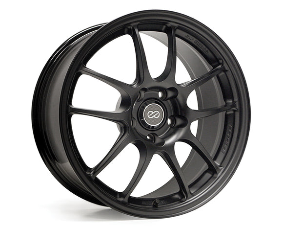 Enkei PF01 Wheel Racing Series Black 17x7 4x100 +38mm-Wheels-Enkei-17x7 4x100 38mm, Enkei, Honda Civic, Wheels-Tatis Motorsports