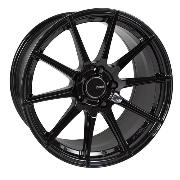 Enkei - Enkei TS10 Wheel Tuning Series Gloss Black 17x8 4x100 +40mm - Wheels -17x8 4x100 40mm, Enkei, Honda Civic, TS10, Wheels - 499-780-4940BK - Tatis Motorsports