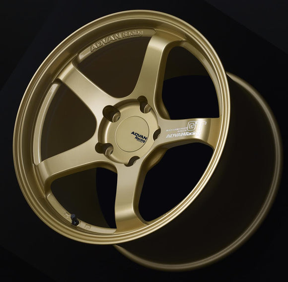 Advan Racing GT Premium Wheel for Porsche 18x10 5x130 +40mm Racing Gold Metallic-Wheels-Advan Racing-18x10 5x130 40mm, Advan Racing, Porsche, Wheels-Tatis Motorsports