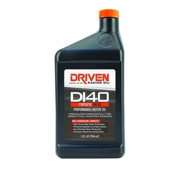 Driven Racing Oil - Driven 18406 DI40 0W-40 Synthetic Direct Injection Performance Motor Oil - CASE of 12 quarts - Motor Oil -0W-40, Driven, Motor Oil - 18406 - Tatis Motorsports