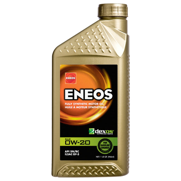 Eneos - Eneos 0W-20 Fully Synthetic Motor Oil (3701-300) - Case of (6) Quarts - Motor Oil -0W-20, Eneos, Motor Oil, Scion FR-S, Subaru BRZ, Toyota 86 - 3701-300 - Tatis Motorsports