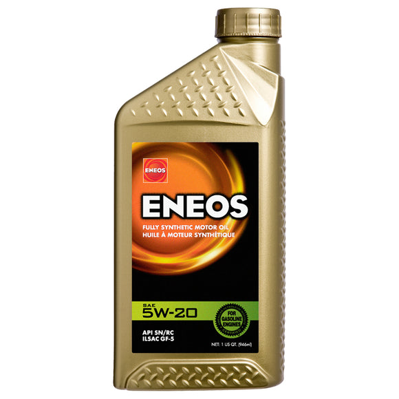 Eneos - Eneos 5W-20 Fully Synthetic Motor Oil (3241-300) - Case of (6) Quarts - Motor Oil -5W-20, Eneos, Motor Oil, Scion FR-S, Subaru BRZ, Toyota 86 - 3241-300 - Tatis Motorsports
