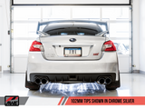 AWE Tuning Touring Edition Exhaust for EJ25-Equipped Subaru WRX/STI Chrome Silver Quad Tips (102mm) 3015-42104-Exhaust-AWE Tuning-AWE Tuning, Exhaust, Subaru Impreza WRX, Subaru Impreza WRX STI-Tatis Motorsports