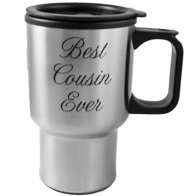 14oz Best Cousin Ever Stainless Steel Travel Mug W/Handle L1