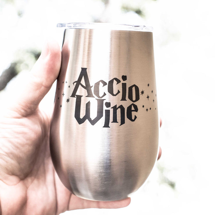 12oz - Accio Wine - SS Stemless Wine Glass