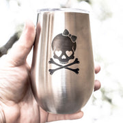 12oz - Cute but Deadly - SS Stemless Wine Glass