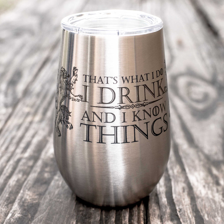 12oz - That's What I Do - SS Stemless Wine Glass