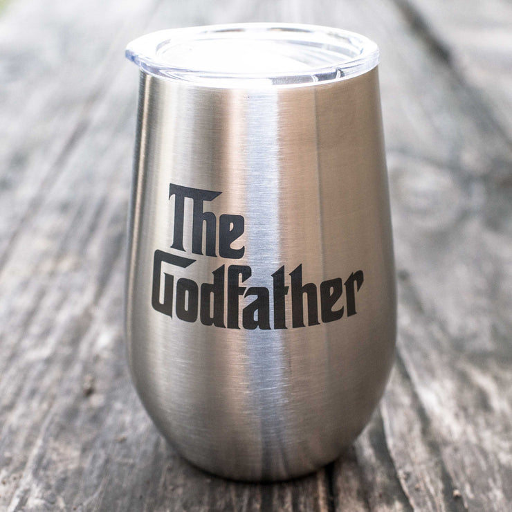 12oz - The Godfather - SS Stemless Wine Glass