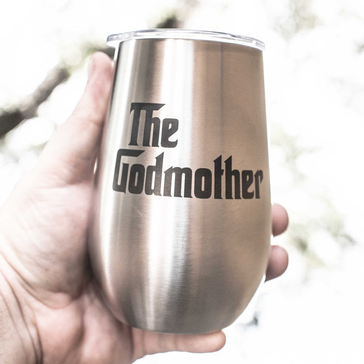 12oz - The Godmother - SS Stemless Wine Glass
