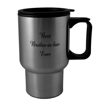 14oz Best Brother-In-Law ever Stainless Steel Travel Mug W/Handle L1