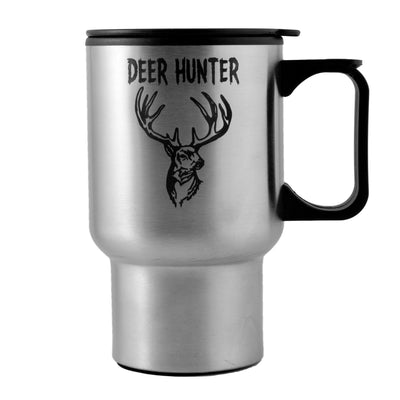 14oz Deer Hunter Travel Mug Tumbler With Handle L1