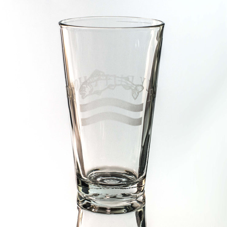 16oz GLASS Family Duty Honor Beer Glass