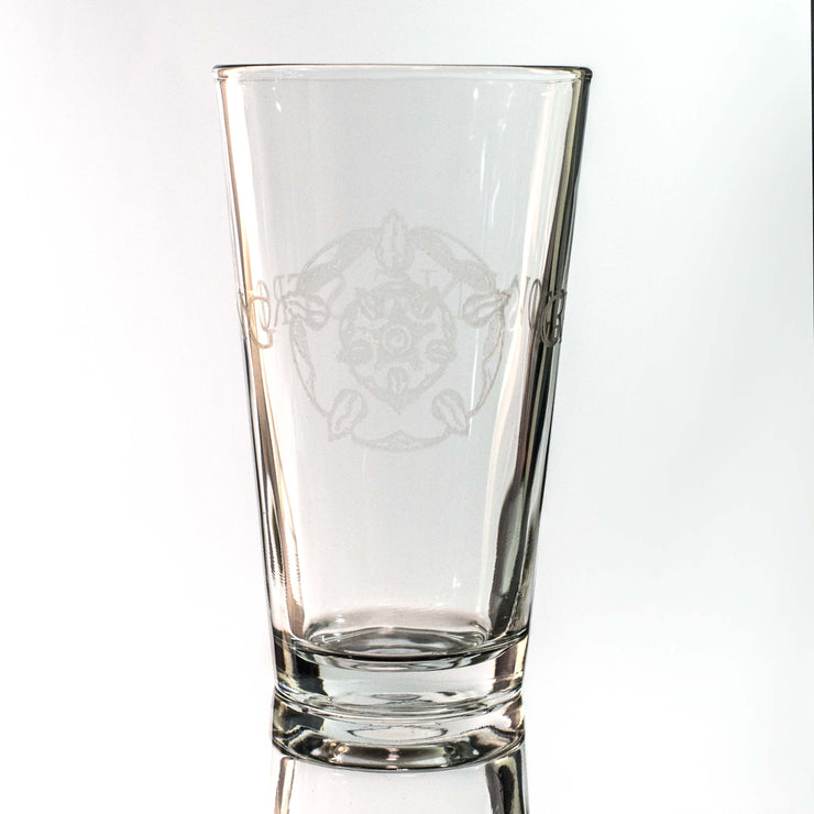 16oz GLASS Growing Strong Beer Glass