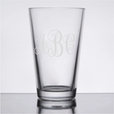 16oz Monogram Beer Glass