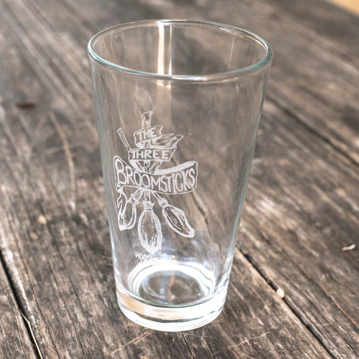 16oz The Three Broomsticks Beer Glass