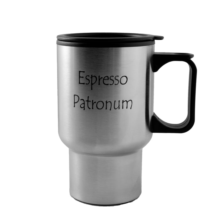 14oz Espresso Patronum stainless steel mug W/Handle L1