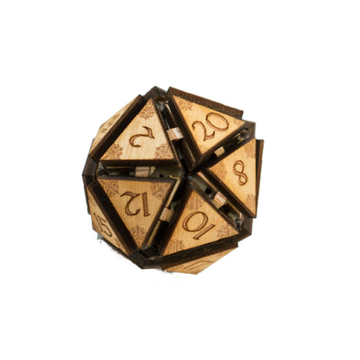 "Crafts - 20 Sided Dice - Art Kit - RAW Wood 1.5""x1.5"""