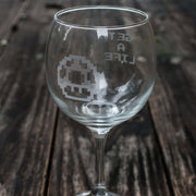 20oz Get a Life Wine Glass L1