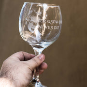 20oz Never Grow Old Wine Glass L1