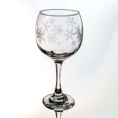 20oz Snowflakes Wine Glass L1