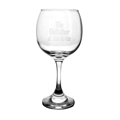 20oz The Godfather of the Bride Wine Glass