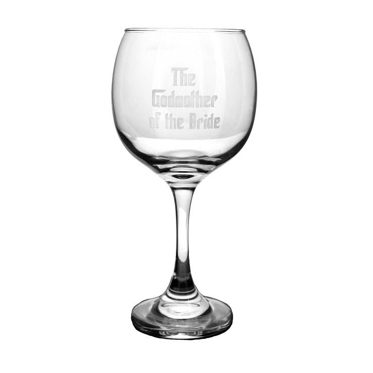 20oz The Godmother of the Bride Wine Glass L1