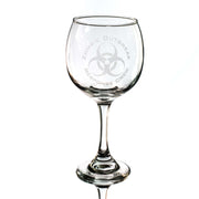20oz Zombie Outbreak Response Crew Wine Glass L1