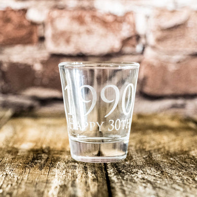 1990 Happy 30th Shot glass