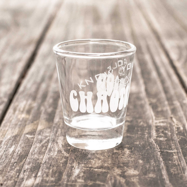 2oz Chaotic Good - Know Your Role - Shot Glass R1