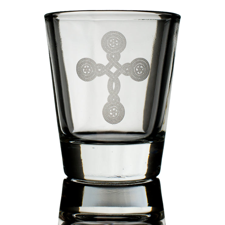 2oz Cross (one) Shot Glass
