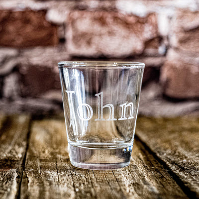 2oz Custom 1 Line Shot glass