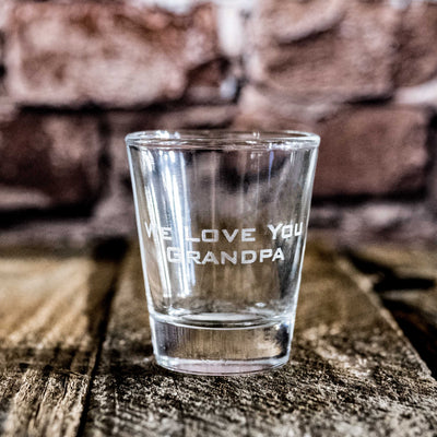 2oz Custom 2 Line Shot glass