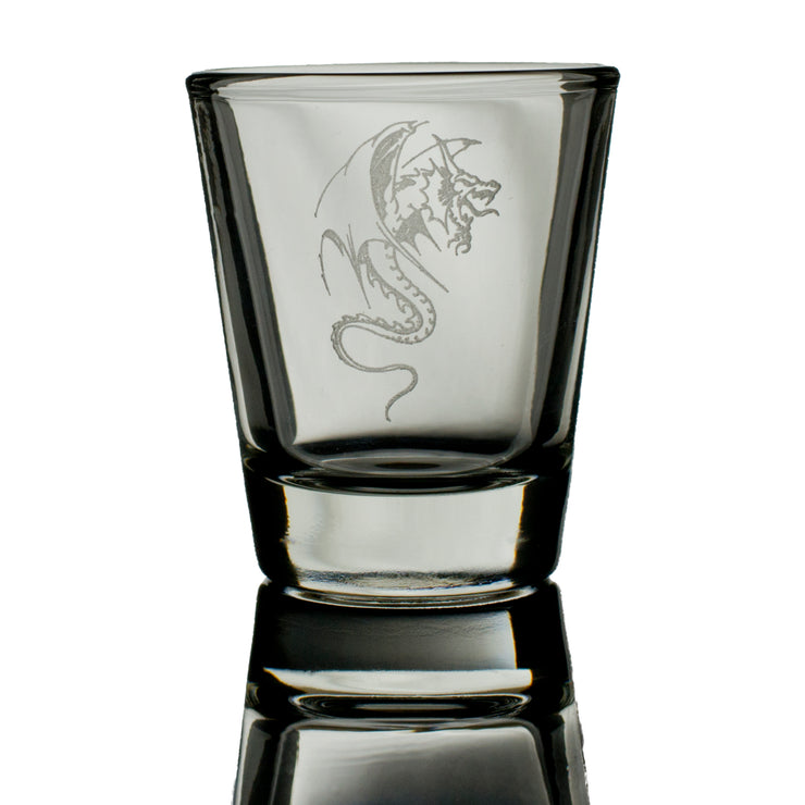 2oz Dragon Three SHOT GLASS
