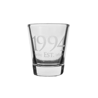 2oz Est 1994 shot glass