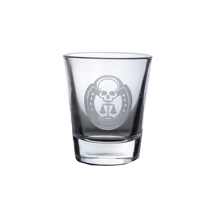 2oz Four Horsemen FAMINE Shot Glass