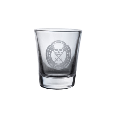 Four Horsemen WAR Shot Glass