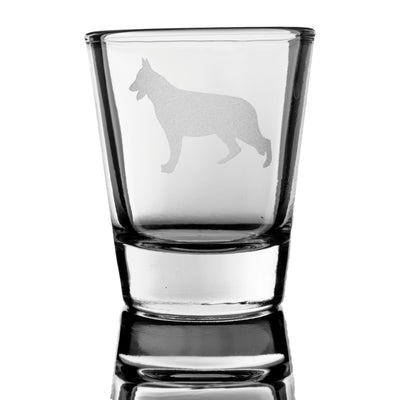 German Shephard dog puppy Shot Glass