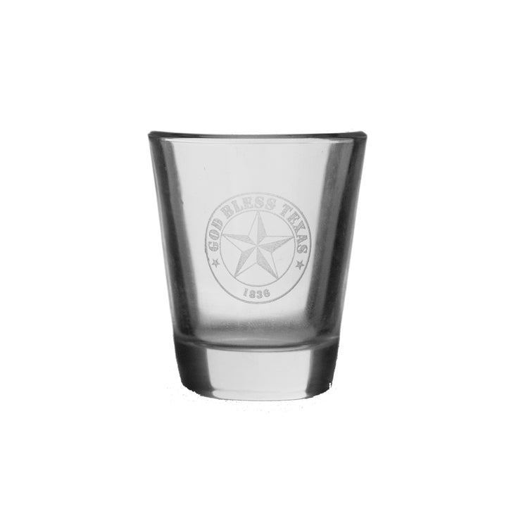 God Bless Texas Shot Glass