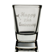 Happy 25th Anniversary shot glass