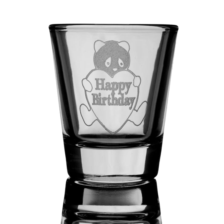 Happy Birthday Panda shot glass