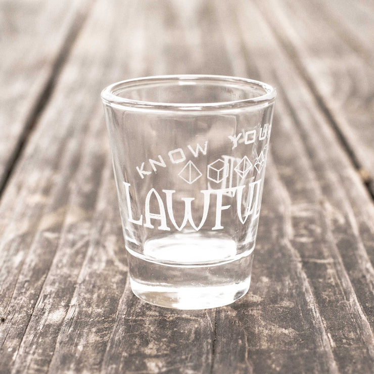 Lawful Evil - Know Your Role - Shot Glass
