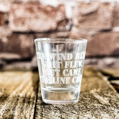 Lineman Poem Shot glass