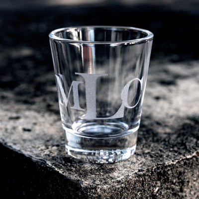 Monogram Engravers MT Initial Custom Shot glass