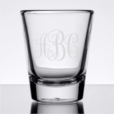 Monogram Custom Shot glass