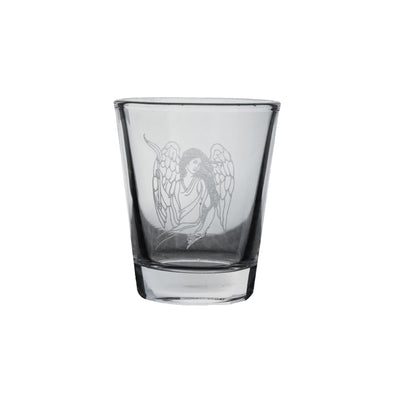 2oz Seated Angel Shot Glass R1
