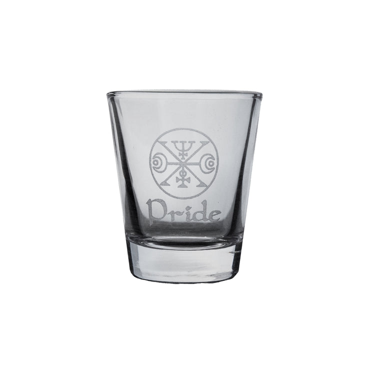 2oz Seven Deadly Sins PRIDE Shot Glass R1